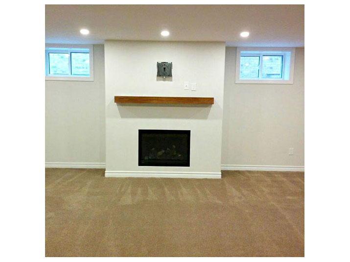 Contemporary drywall fireplace surround