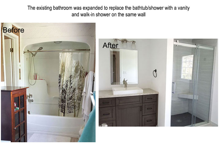 Before and after ensuite bathroom