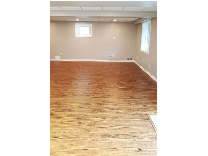 Laminate flooring in basement