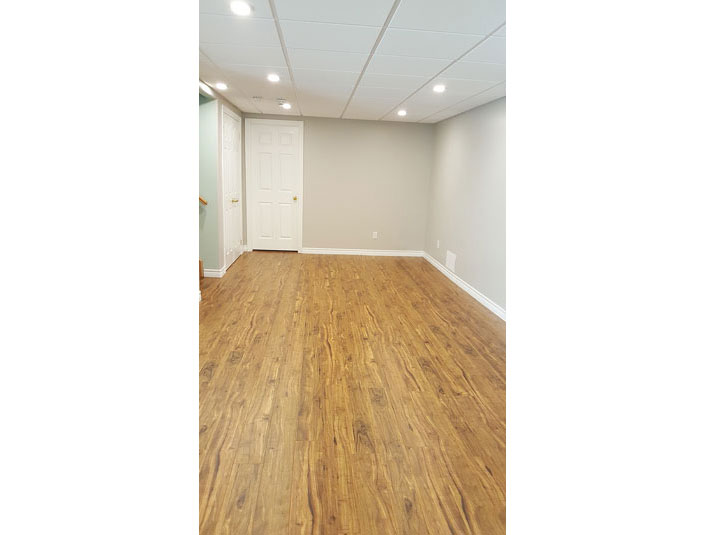 Open concept basement
