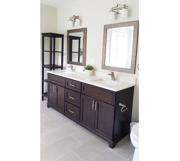 Ensuite bathroom with luxury vinyl flooring