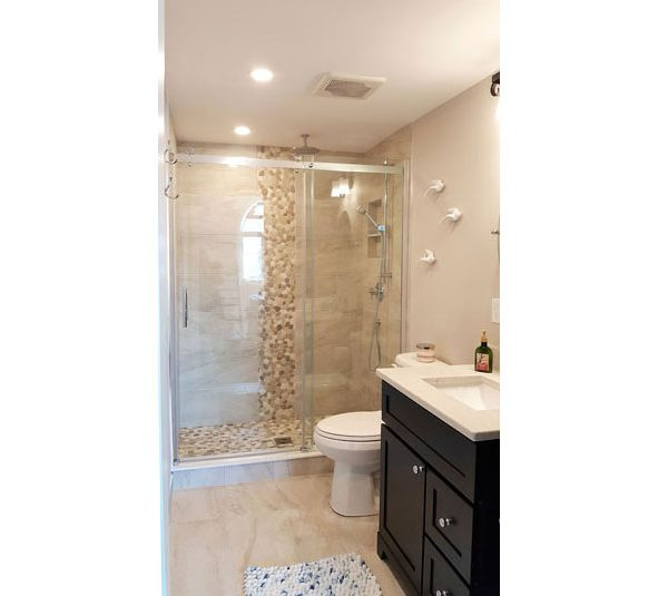 Alcove glass shower doors