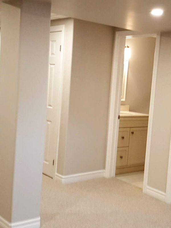 Basement Bathroom and Bedroom