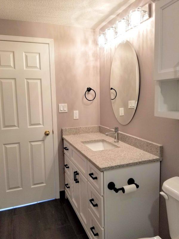 3-piece mauve bathroom