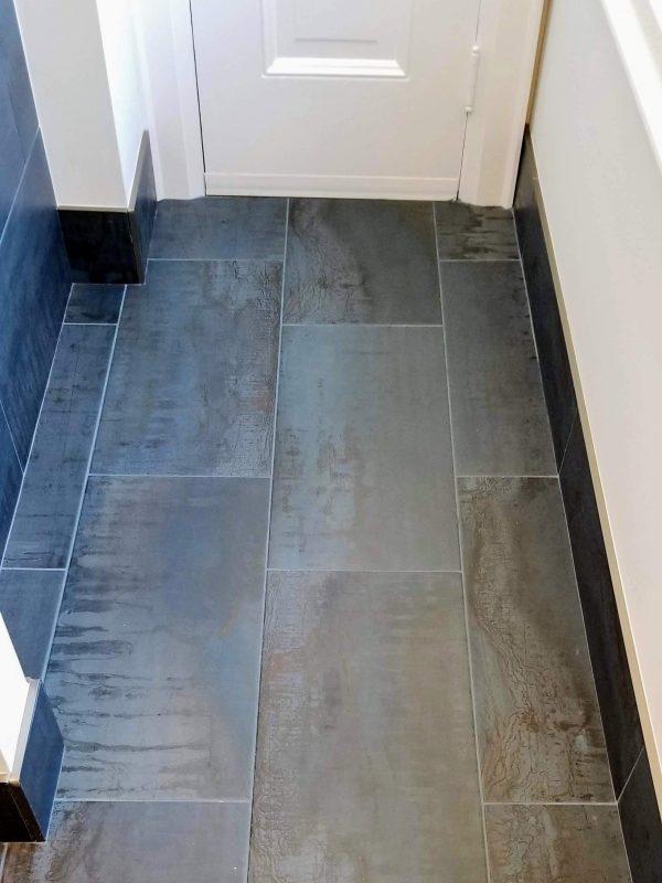 Twilight blue floor tiles