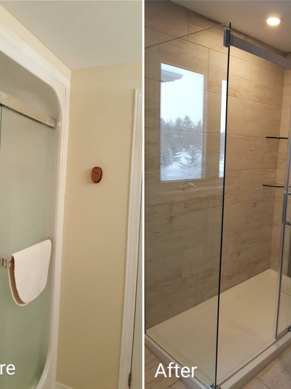 Before and After Shower Renovation
