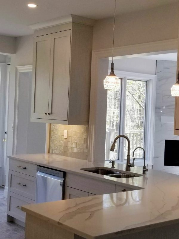 White cabinetry