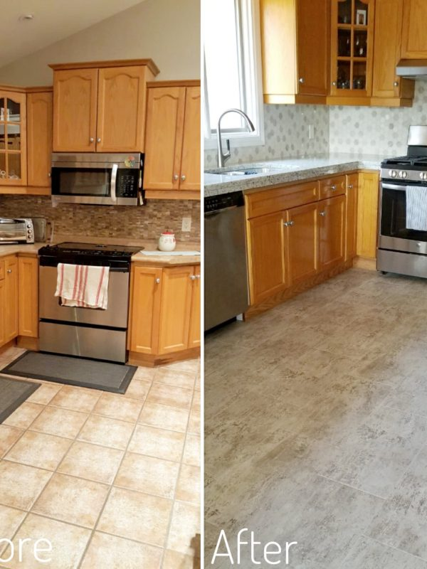 Before and After Kitchen Flooring