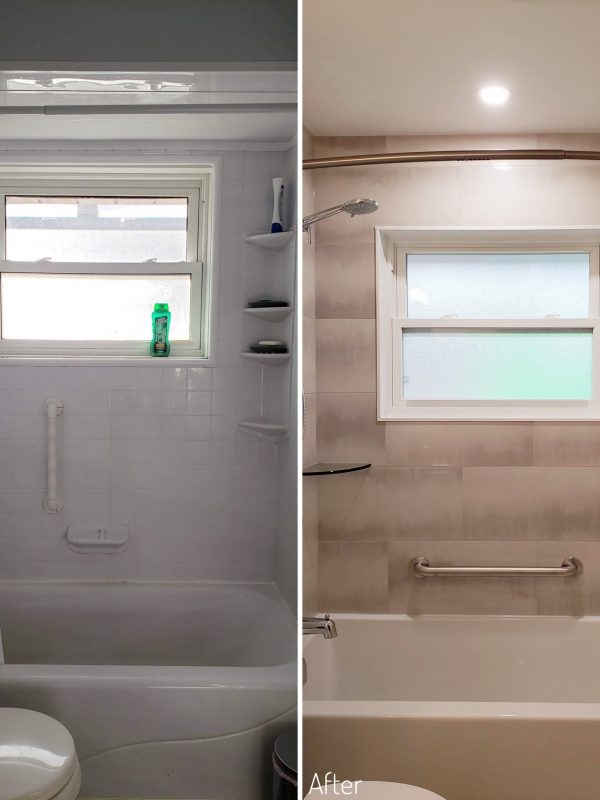 Before and After Main Floor Bathroom