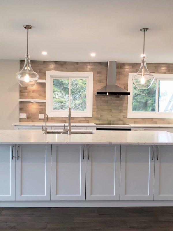 White kitchen and quartz countertops
