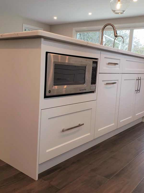White shaker cupboard panels