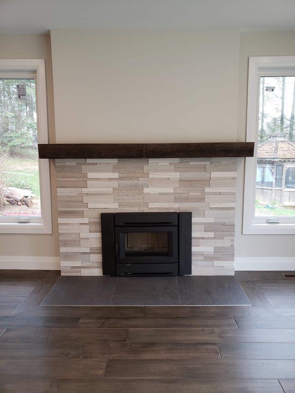 Wood burning fireplace installed