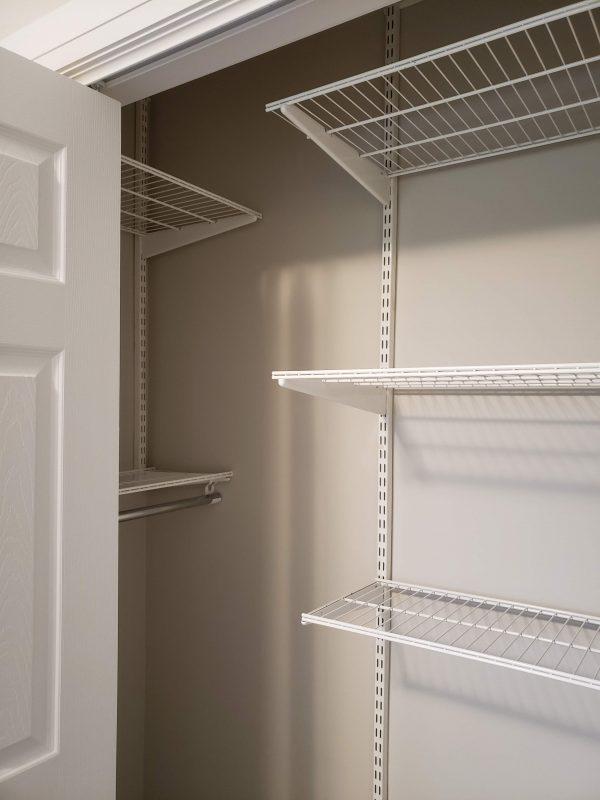 Bedroom closet updated