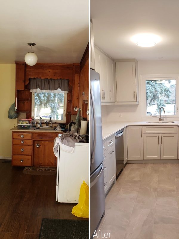 Before and After Kitchen Reno