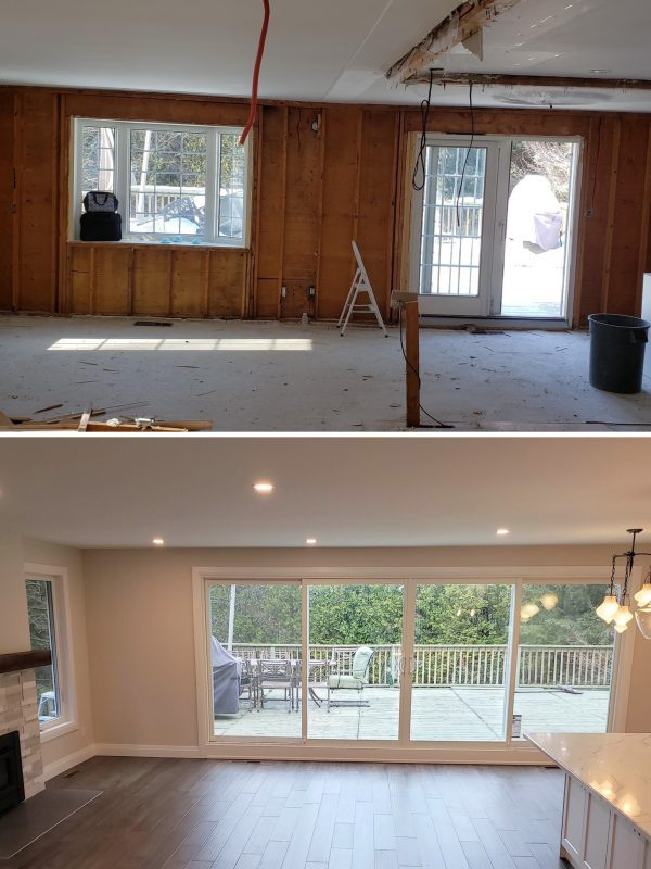 Before and After patio doors