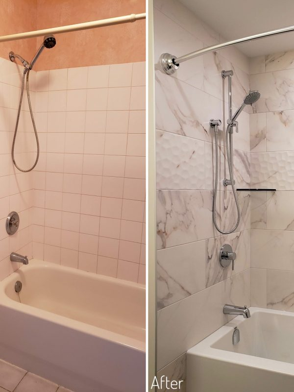 Before and After Bathtub/Shower Combo