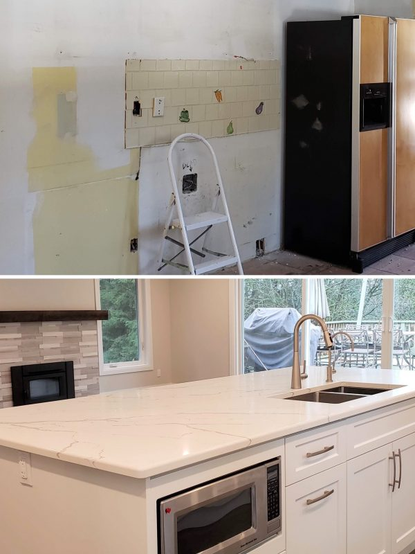 Before and After Kitchen island