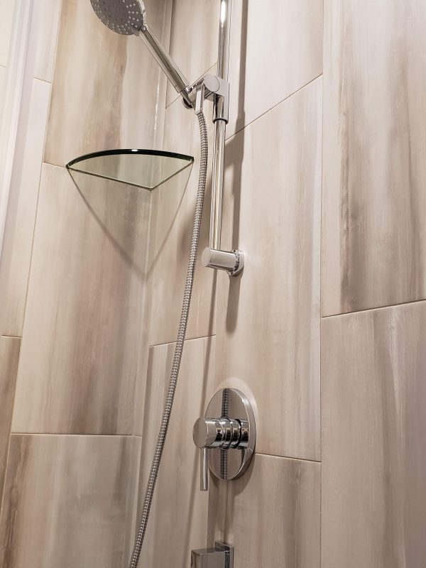 Handheld slide bar shower