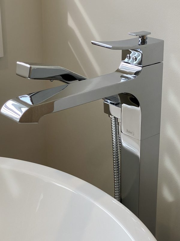 Riobel chrome freestanding tub faucet