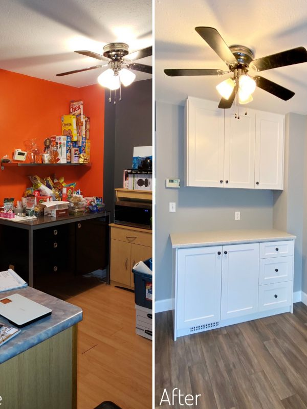 Before and After Coffee Station