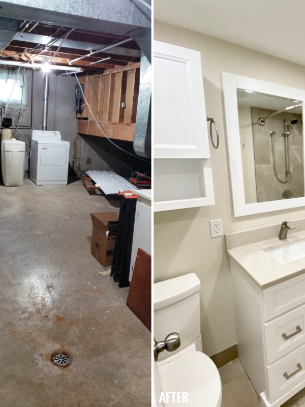 Before and After Washroom