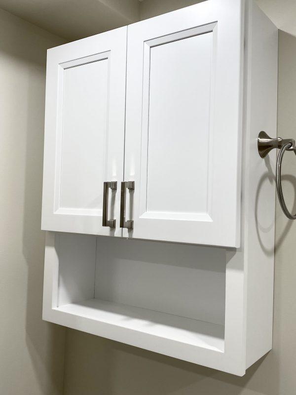 White storage cabinet (OTJ)